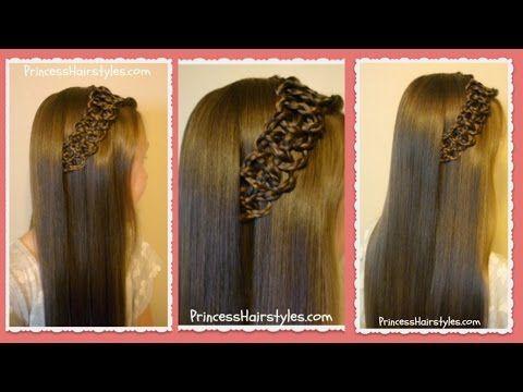 Download Video: Braided 4 Strand Slide Up Accent Hairstyle. Basic HairstylesHairstyles  VideosGirl ...