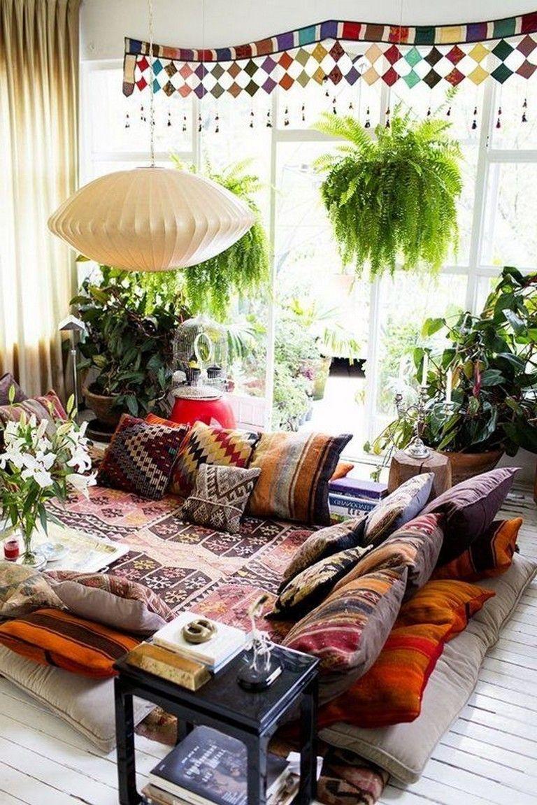 25+ Astonishing Bohemian Living Room Ideas images