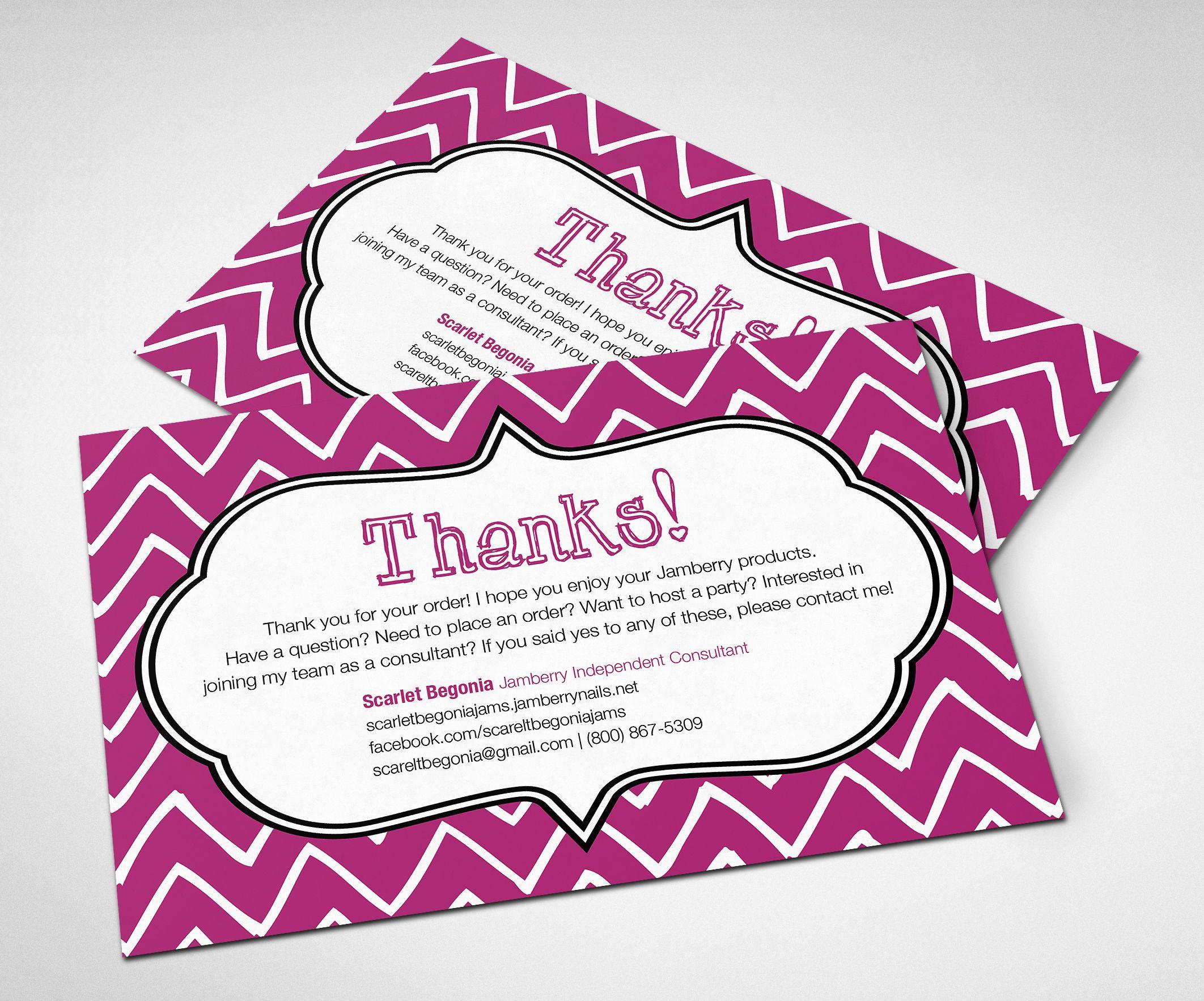 Printable Customizable Jamberry Thank You Card! #jamberry ...