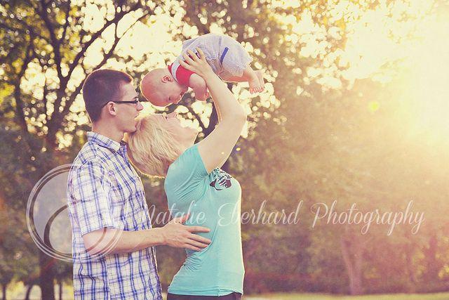 family photo sunset baby laughing love light, by Natalie Eberhard Photography, Nevada, Missouri