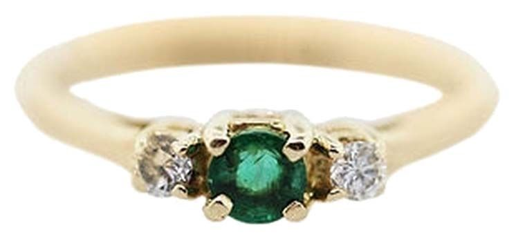 14k Yellow Gold Emerald And Diamond Ring. Get the lowest price on 14k Yellow Gold Emerald And Diamond Ring and other fabulous designer clothing and accessories! Shop Tradesy now