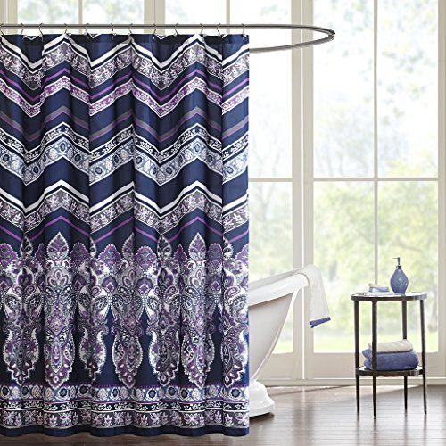 Intelligent Design ID70513 Adley Shower Curtain 72x72 Purple72x72 ** See this great product. Note:It is Affiliate Link to Amazon.