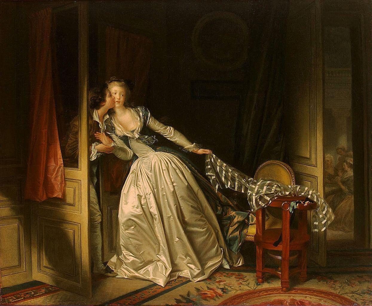 Le baiser à la dérobée, Honoré Fragonard. Musée de l'Ermitage.
