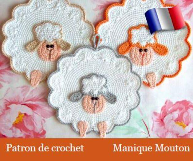 Tutoriels de crochet, Manique \'Mouton\