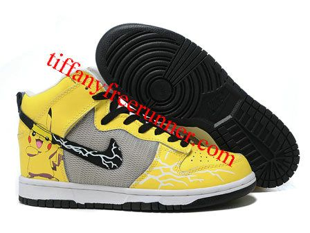 wholesale dealer 7f1b4 54cf7 Nike Pikachu High Tops Pokemon Dunks For Sale