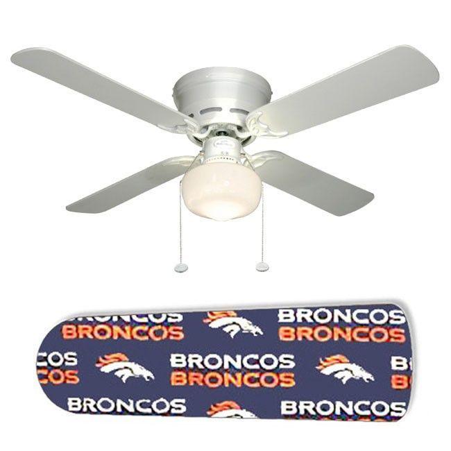 Denver Broncos 42 Ceiling Fan And Lamp