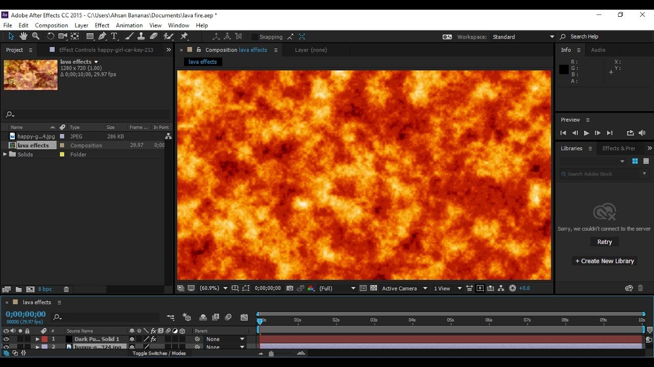 After Effects Cc 2017 2018 2019 Lava Fire Effects Class 03