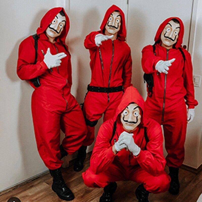 La Casa De Papel Halloween Party Cosplay Paper House Salvador for Men Women Adult Unisex Money Heist Dali Mask Costume
