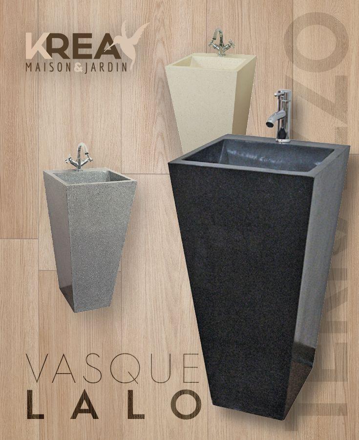 Vasque Sur Pied Lalo En Terrazzo 45 X 45 X 90 Cm Salledebain Interieur Decoration Salle De Bain Vasque Salle De Bain