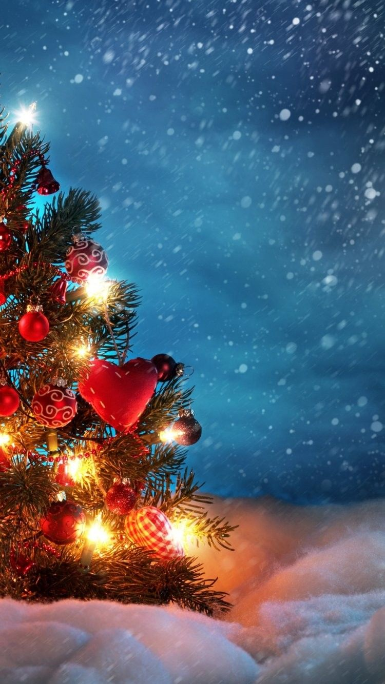christmas tree iphone 6 wallpaper 22856