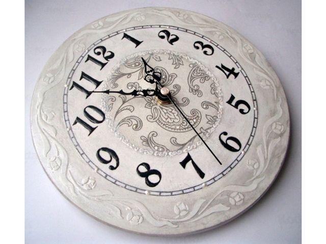 Как сделать настенные часы своими руками декупаж
