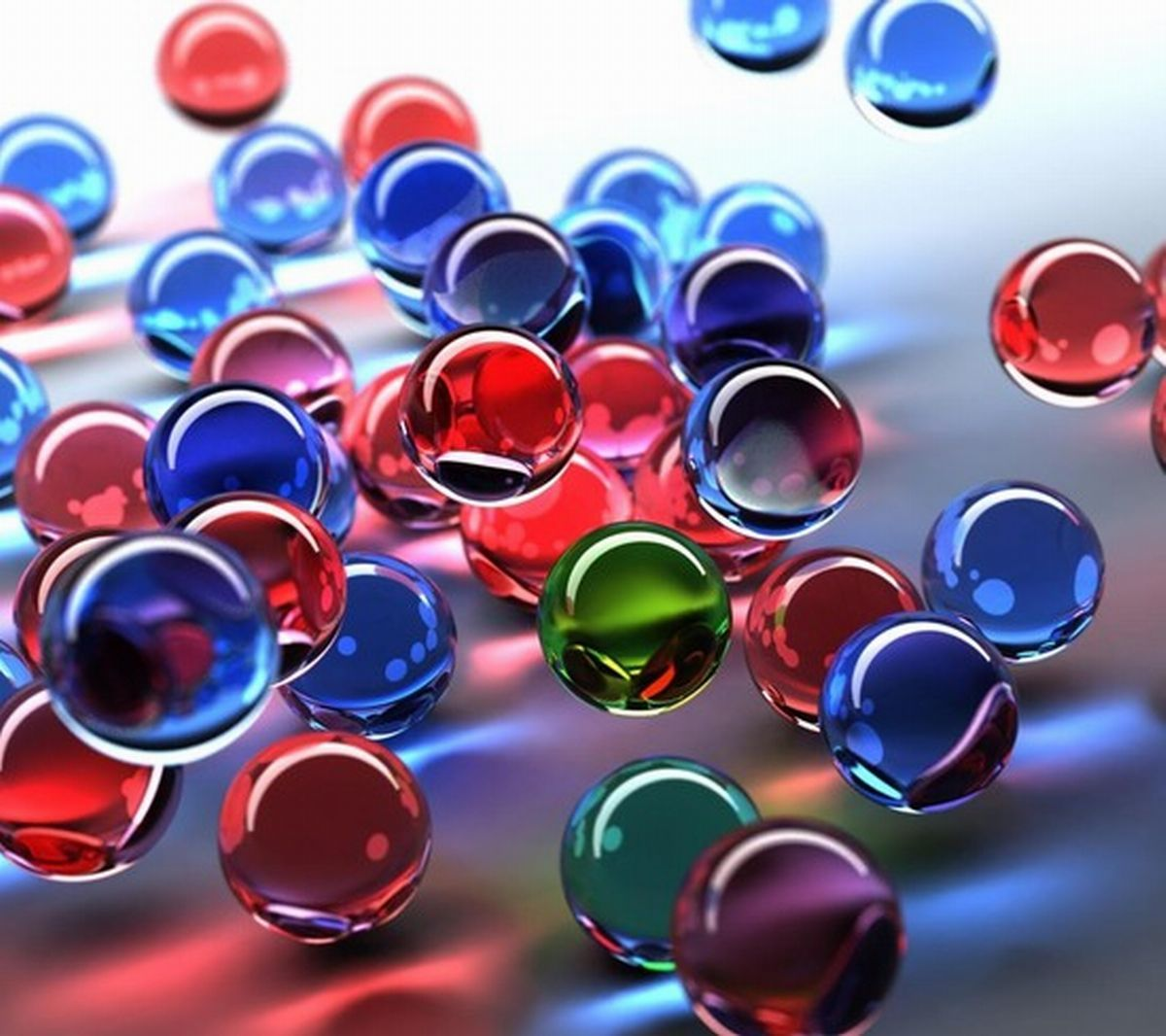 Top 30 3D Wonderful Glass Marbles in Office Table