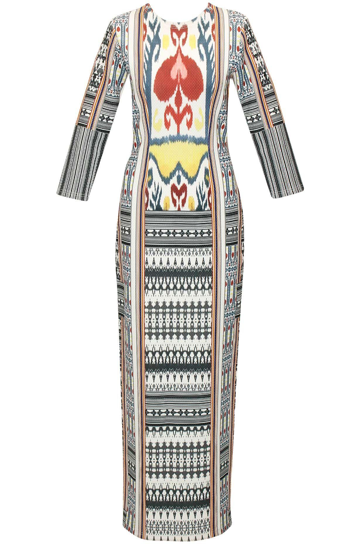 Grey heart ikat printed long dress by hemant and nandita shop at