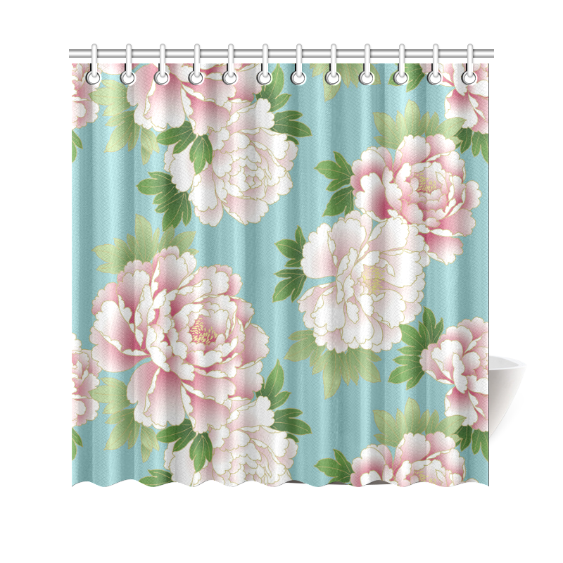 Pink Peonies Vintage Japanese Floral Kimono Shower Curtain 69 ...