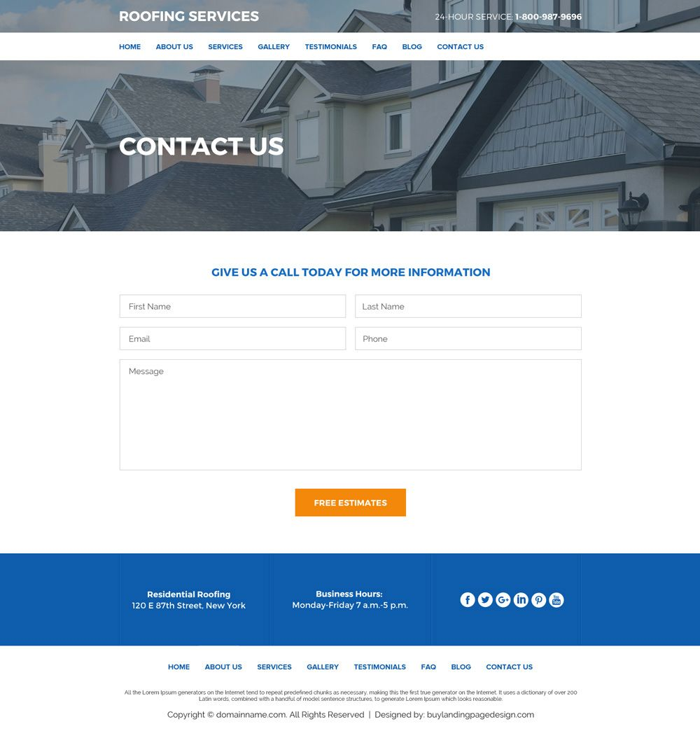Roof Replacement And Repair Services Website Design Roofing Services Roofing Website Design