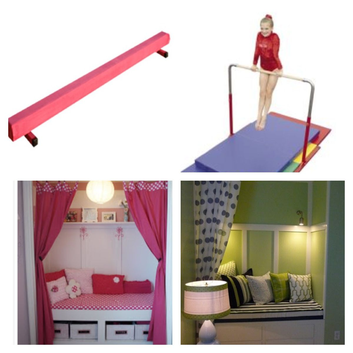 Gymnastics Themed Bedroom(: