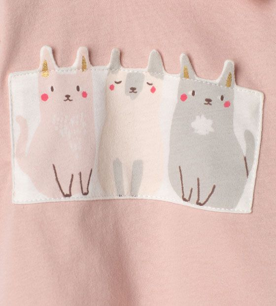 Afbeelding 5 van T-shirt met katjes van Zara