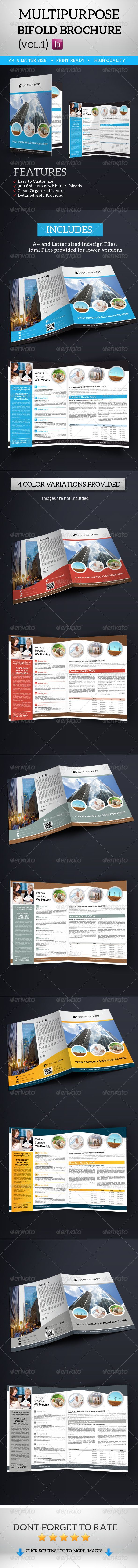 Multipurpose Bifold Brochure Vol.1  —  EPS Template • Download ➝…