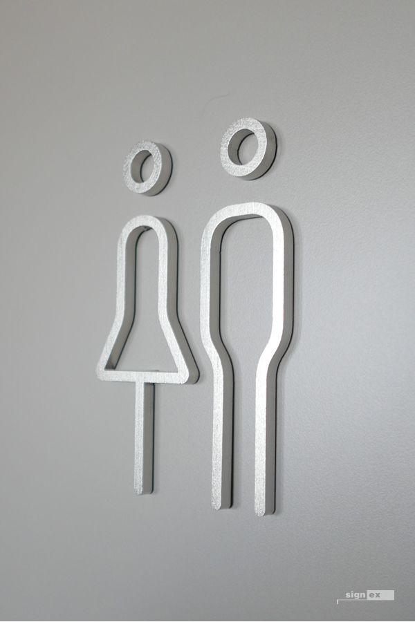 wc pictogram typography sign pinterest. Black Bedroom Furniture Sets. Home Design Ideas