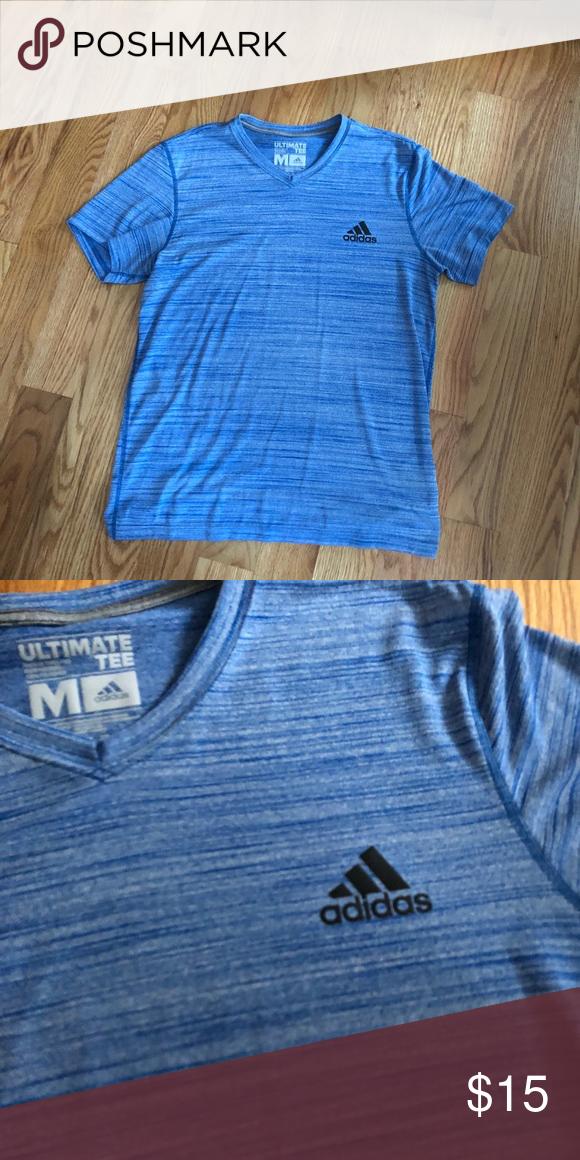 New Adidas Ultimate Short Sleeve T-Shirt Blue Size Medium