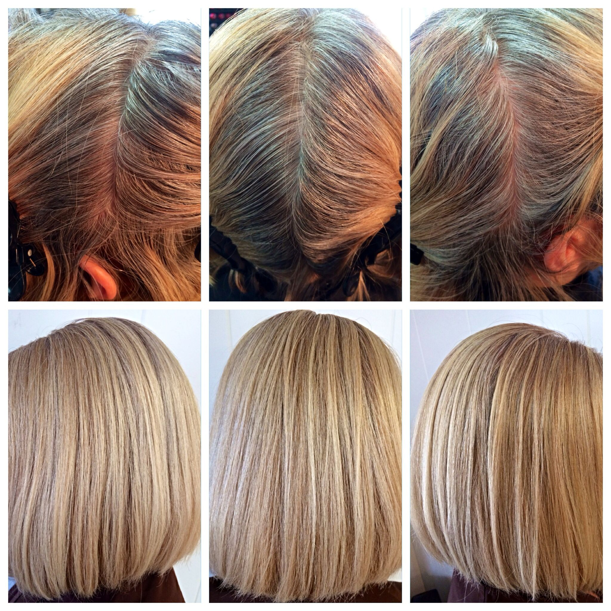 Before Amp After Goldwell Blondes