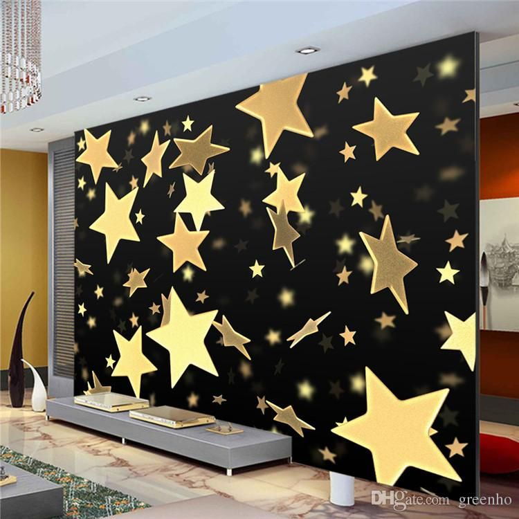 3d twinkling stars photo wallpaper custom wall mural for Boys mural wallpaper