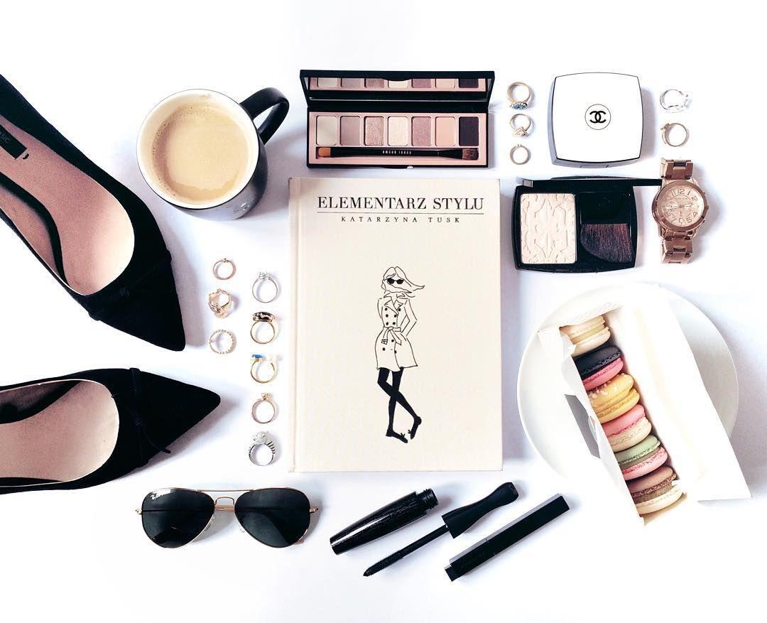 D Fashion Beauty Supply: Fashion Flatlay, Beauty, Book, Elementarz Stylu, Coffee