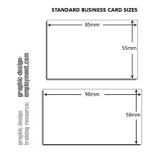 Image Result For Business Cards Size In Cm