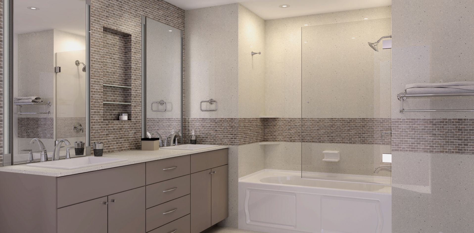 Neutral Colors Are The Perfect Backdrop For Your Bathroom Design