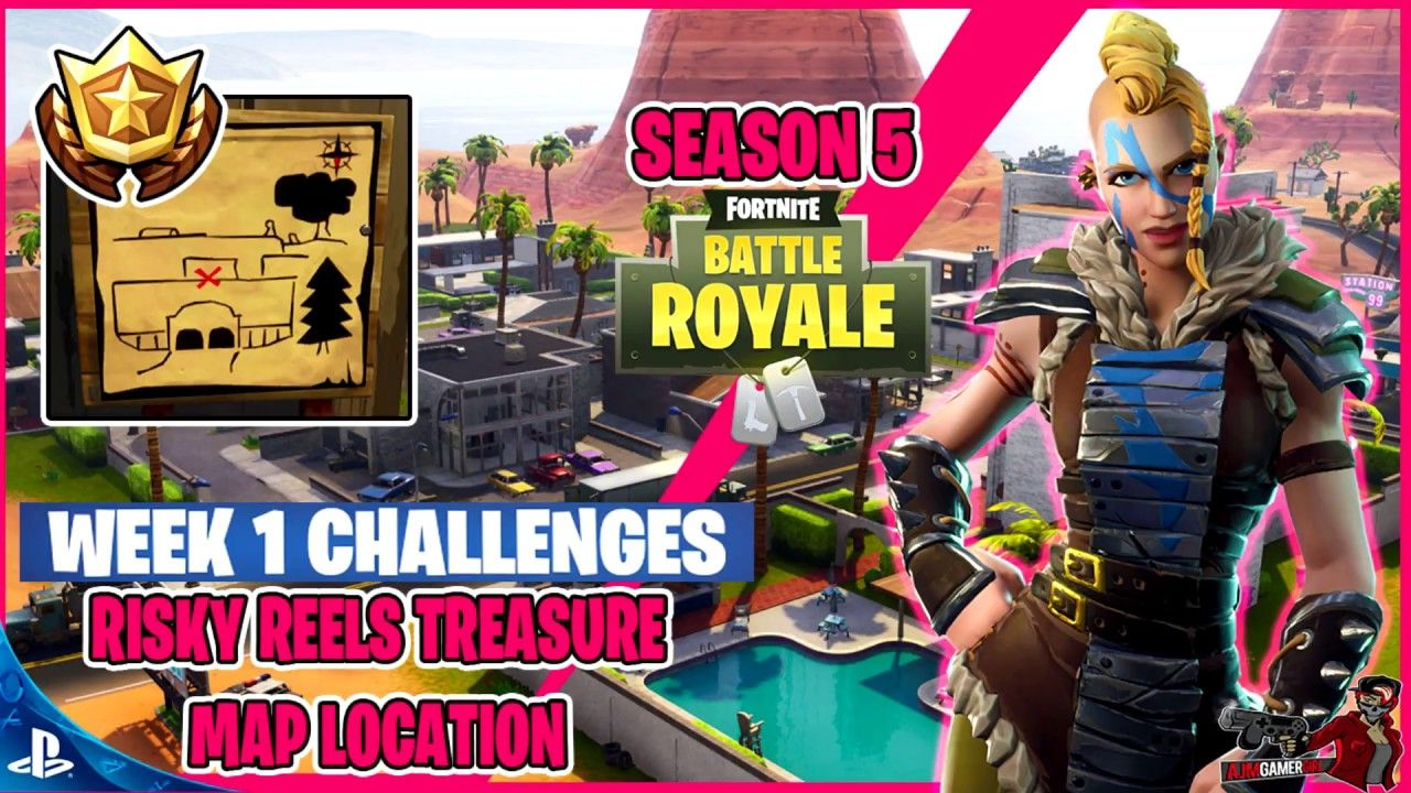 Fortnite Battle Royale Week 1 Challenge Risky Reels Treasure