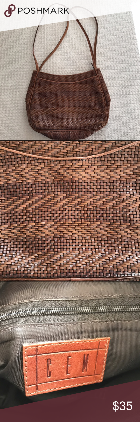 Woven CEM purse Cute woven purse by CEM. This was only used a few times and is in very good condition! Feel free to ask questions or make an offer! CEM Bags Shoulder Bags