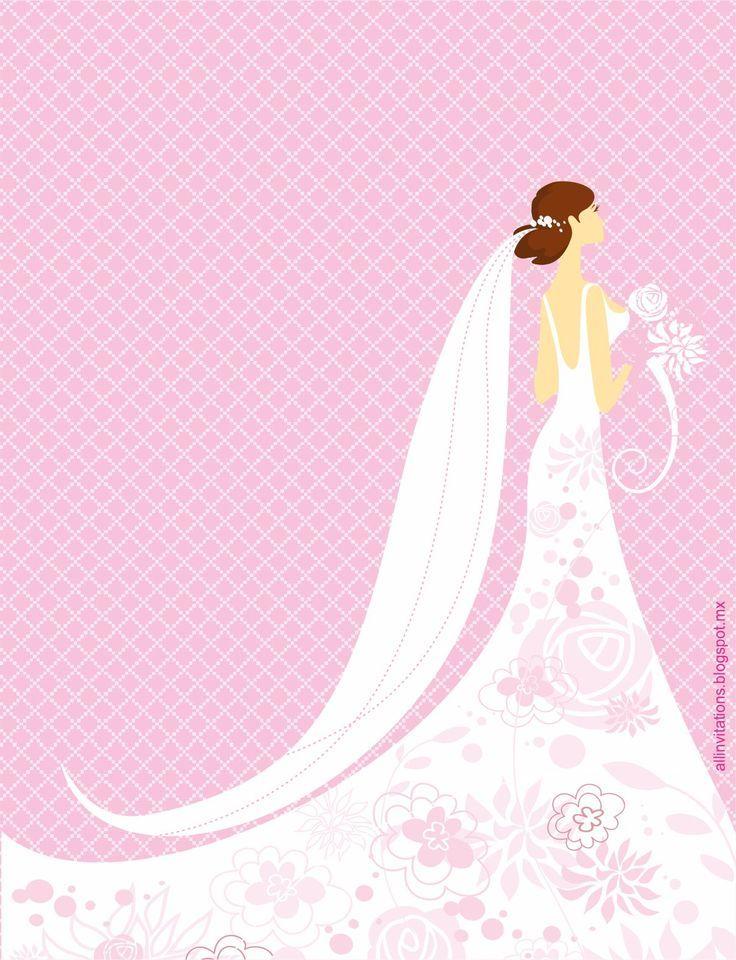 vestido de novia dibujo invitacion - Pesquisa Google   Papel ...
