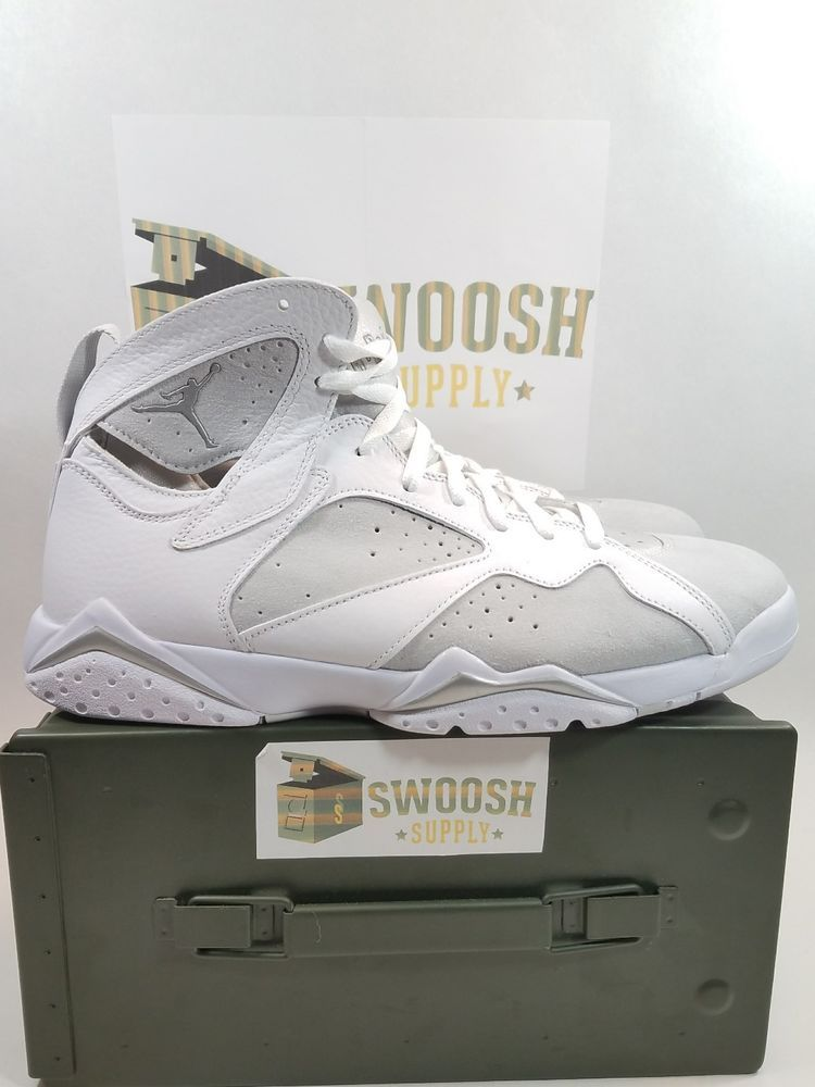 best website a0b23 996ac NIKE AIR JORDAN VII RETRO 7 PURE MONEY PLATINUM WHITE SILVER 304775 120 SZ  14  NIKE  AthleticSneakers