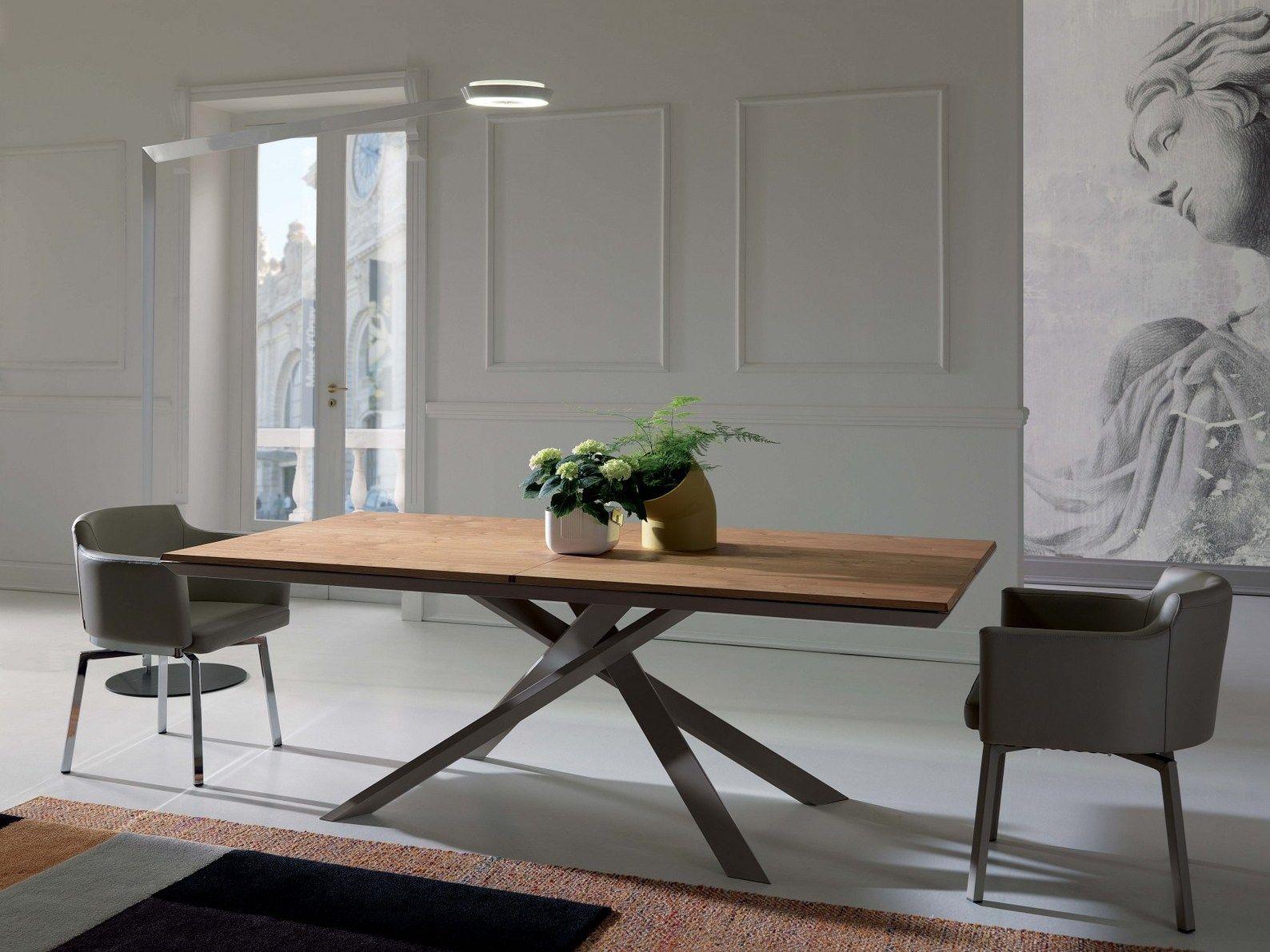 Table Extensible Rectangulaire En Bois 4x4 By Ozzio Italia Design