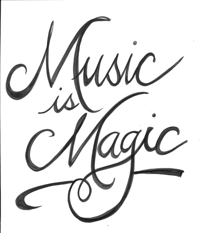 Music is Magic Handlettered Quote Print   Etsy