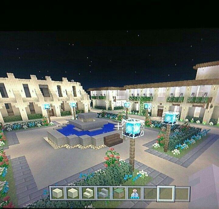 Minecraft Apartment: Minecraft Apartment Courtyard