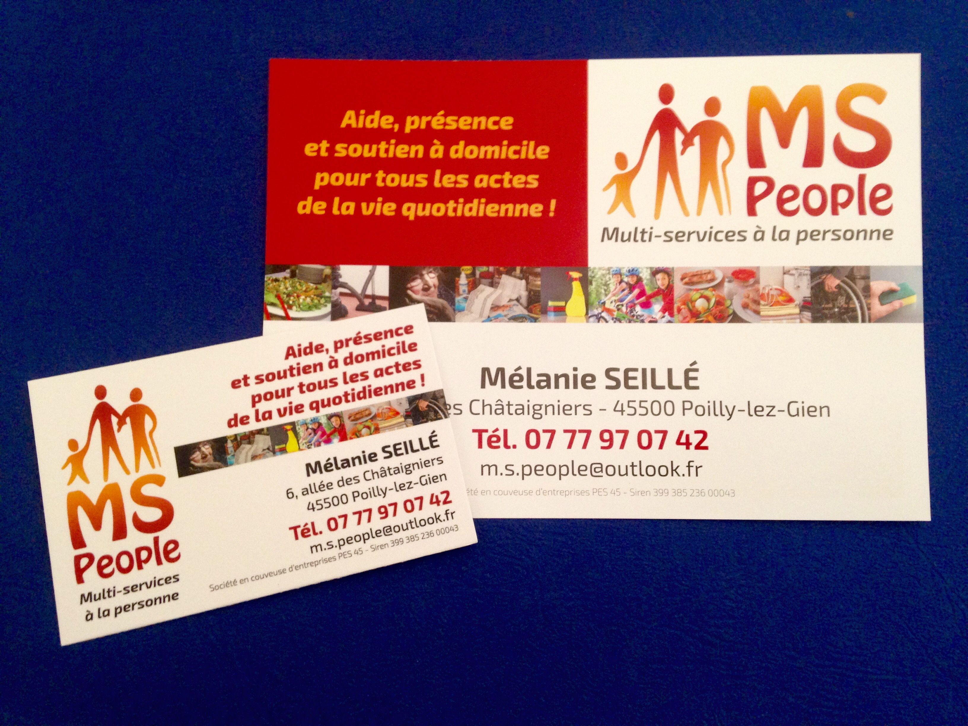 MS People Multi Services La Personne Carte De Visite Et Flyer Recto Verso
