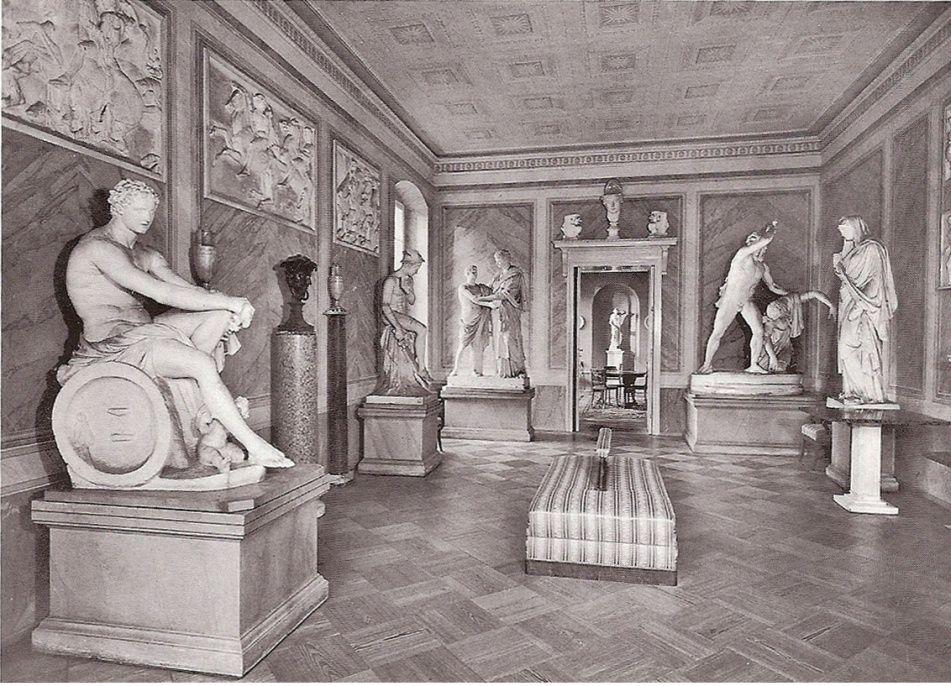 berlin schlo tegel antikensaal photograph postcard horst urbschat deutscher kunstverlag. Black Bedroom Furniture Sets. Home Design Ideas