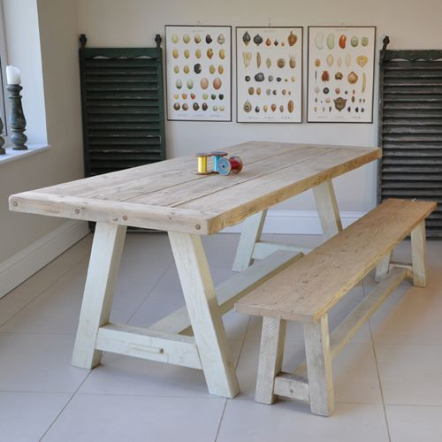 Reclaimed Wood Rustic Dining Table. www.homebarnshop.co.uk £695 options