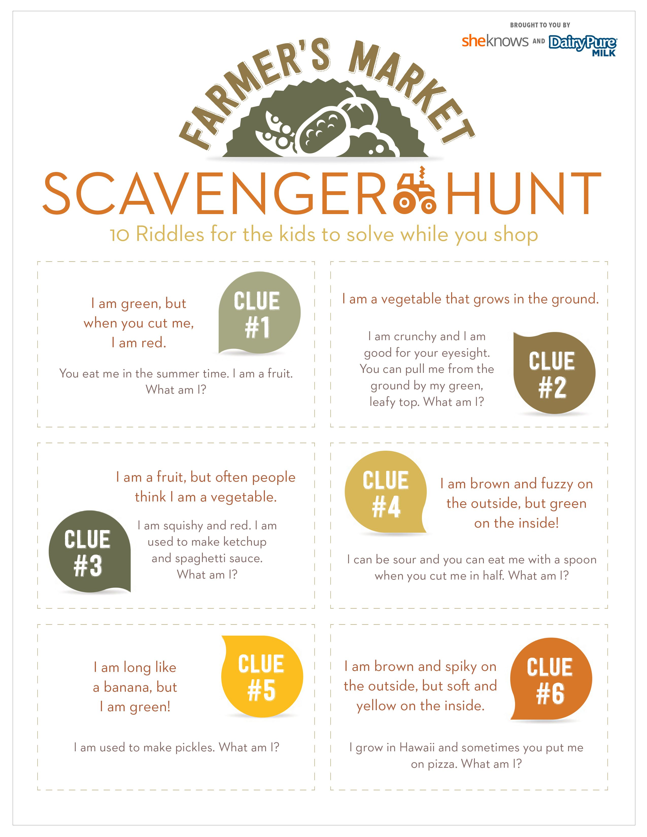 """Free Download The """"Wear Your Flair"""" adult scavenger hunt"""