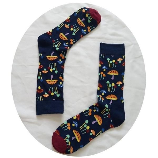 08976edc3f Be riotous with colour New Pattern Christmas Series Pure Cotton In  Personality Cartoon Man happy Male Socks