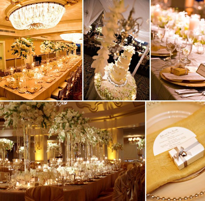 I would love to go gold for my wedding theme with for Vintage theme ideas