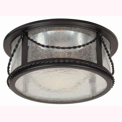 Hampton bay 6 in oil rubbed bronze recessed deco trim with seeded oil rubbed bronze recessed deco trim with seeded glass shade mozeypictures Image collections