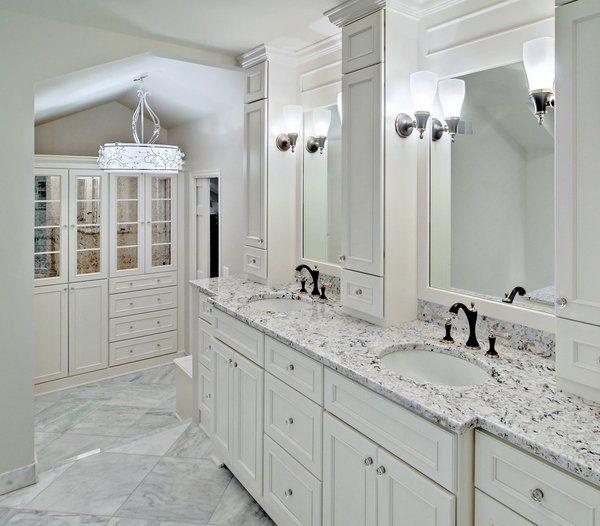 Bathroom Design Vanity Countertops White Ice Granite Countertop