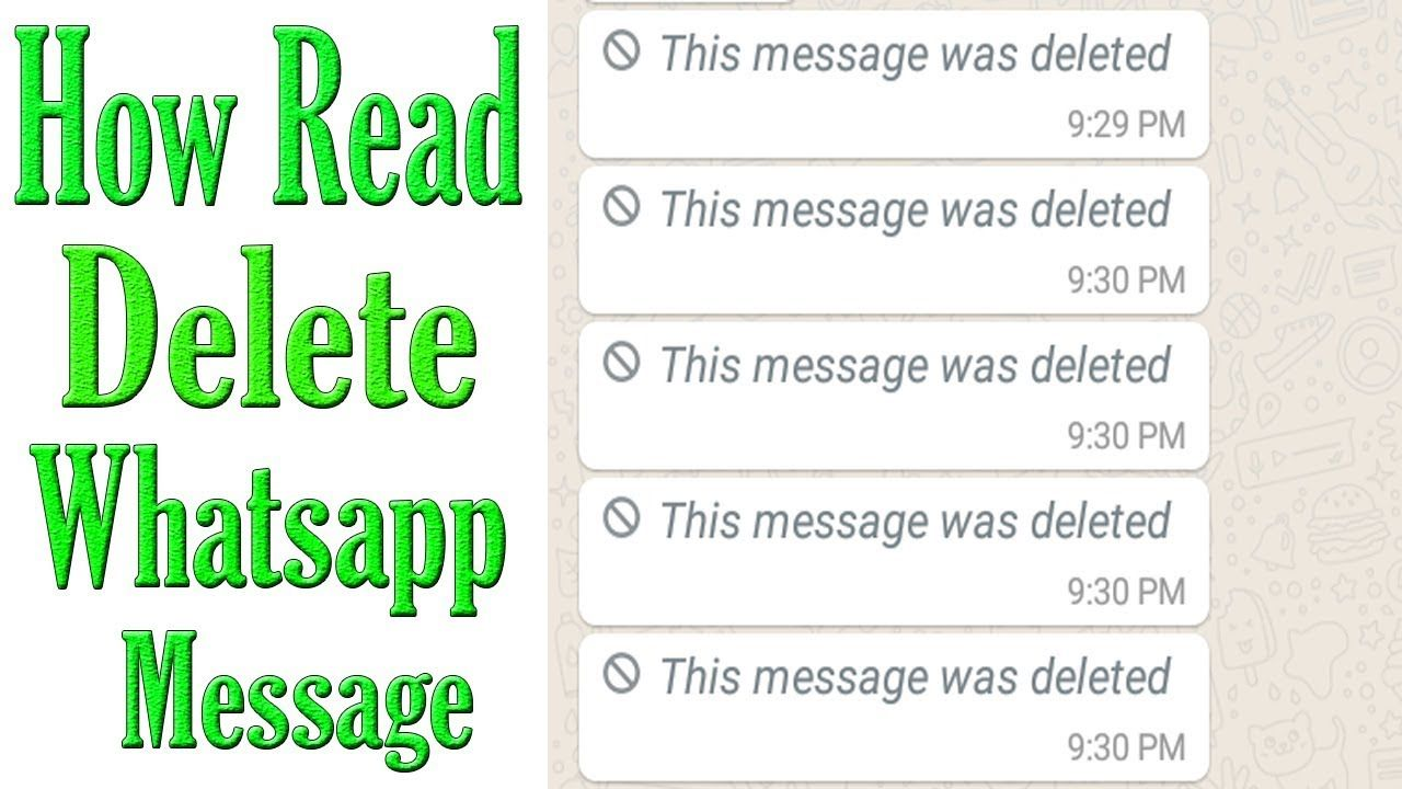How To Read Deleted Messages On Whatsapp MessengerThis