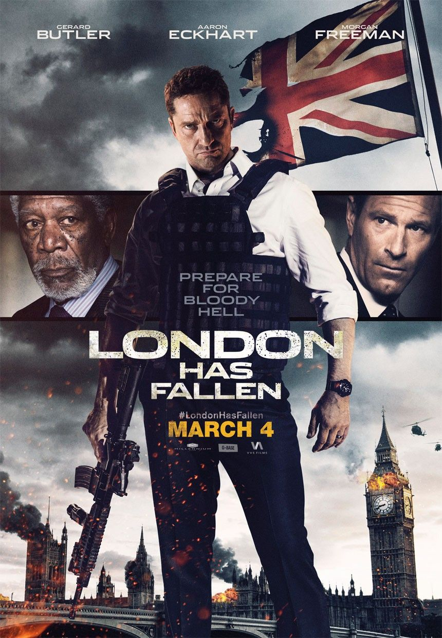 New London Has Fallen Clips And Posters Cartazes De Cinema