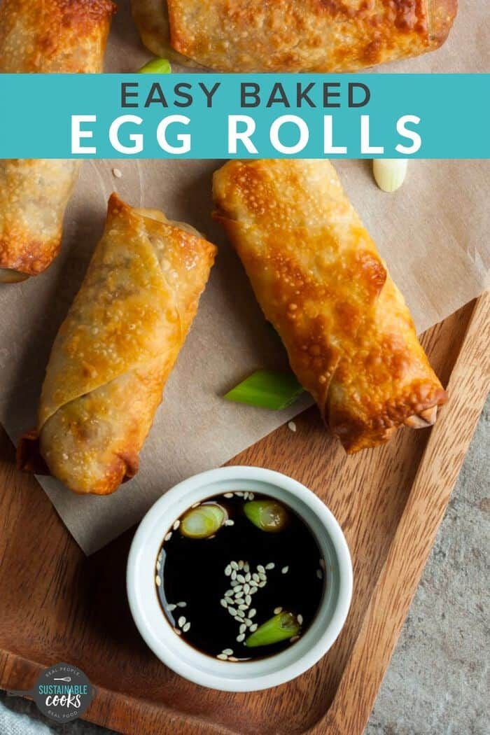 Air Fryer Egg Rolls {Easy Egg Roll Recipe} | Sustainable Cooks