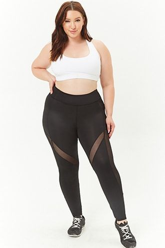 952e8506bb746d Plus Size Active Mesh Panel Leggings | Big butts & asses | Fashion ...
