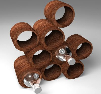 Hand crafted wine rack fits into the one off concept of post