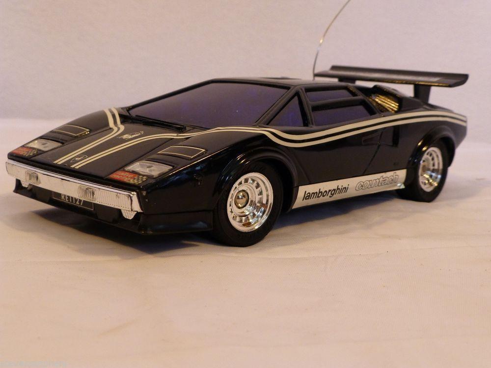 Vintage RC Lamborghini Countach LP500S Shinsei Rare Collectible Radio  Control